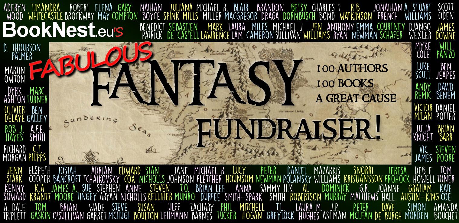Booknest's Fantasy Fundraiser banner