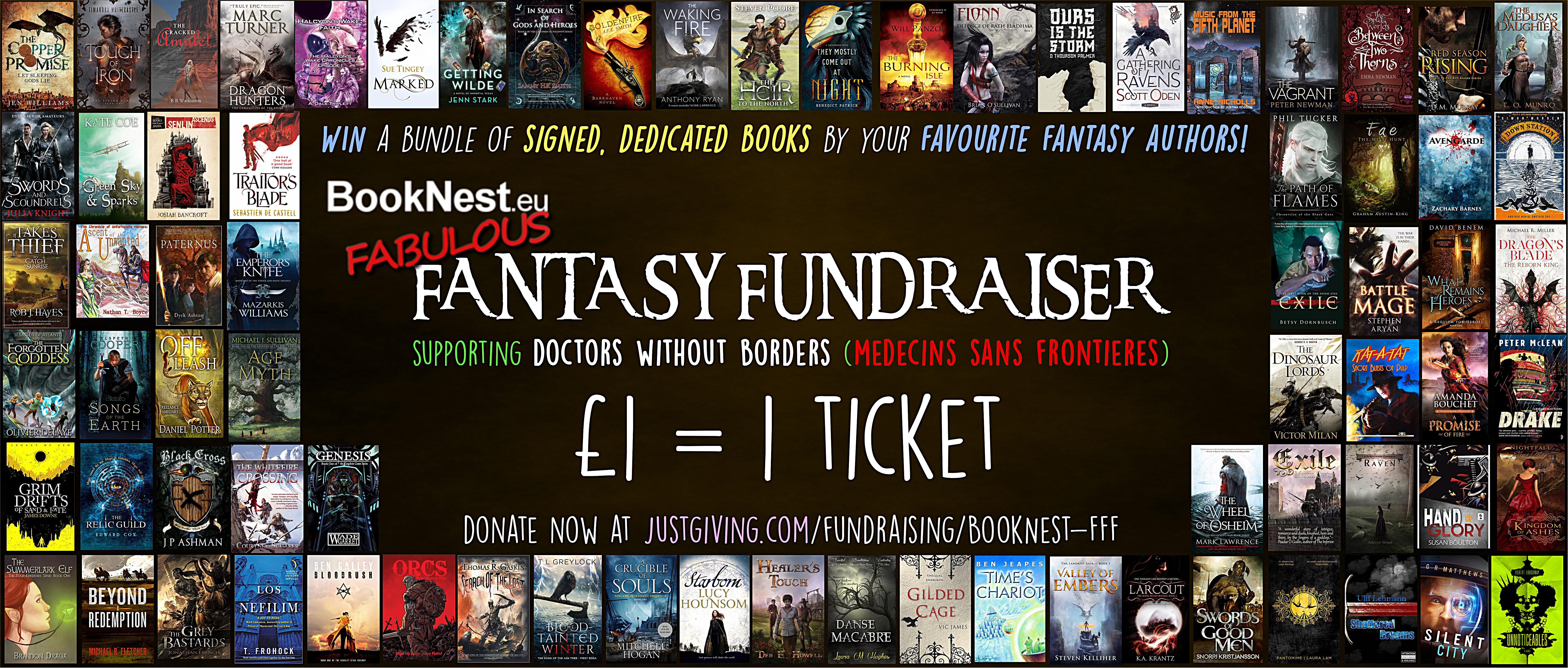 Booknest's Fabulous Fantasy Fundraiser